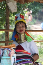 Colorful and Friendly Long Neck Woman